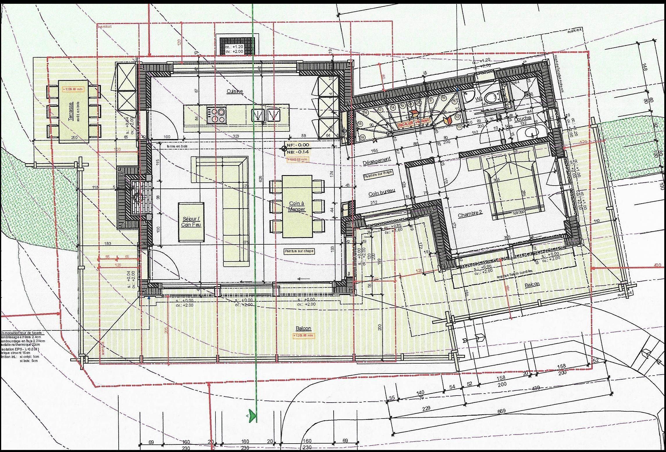 Chalet Sarreyer  layout