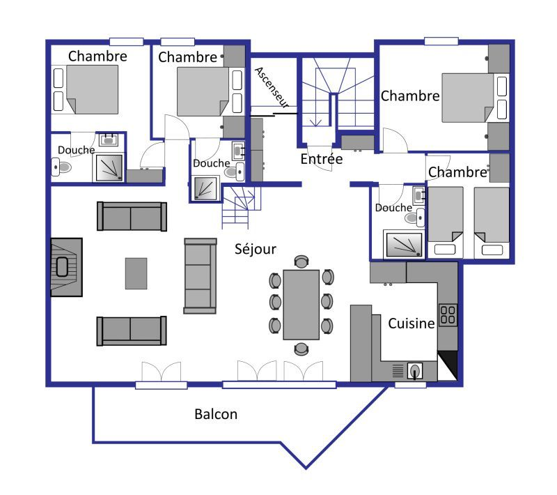 Baroque Combles layout