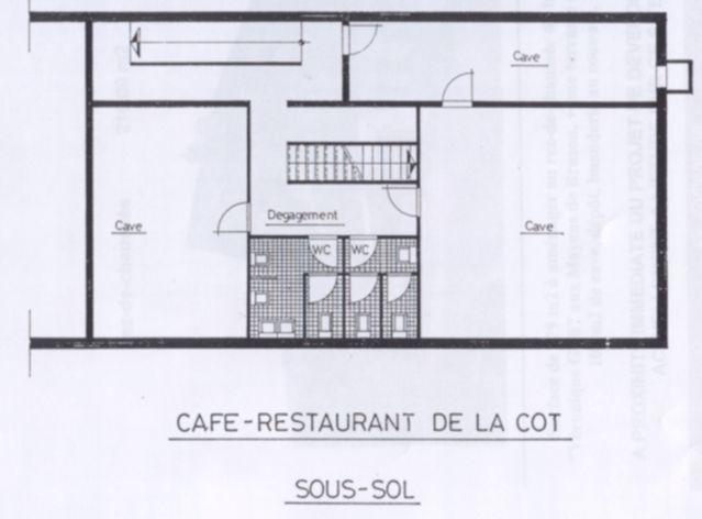 Restaurant de La Côt layout
