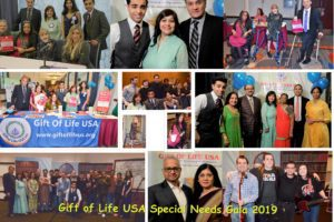 Gift of Life USA, a non-profit, held its annual Special Needs Gala and fundraiser. Seen in pictures are special needs beneficiaries with founders Paresh and Flora Parekh, sponsores, and performers. (Photo: Gift of Life USA)