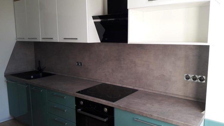 prjamaja kuhnja 02 016 v stile modern zelenyj foto 1 748x421 - Кухня №02-016 фото и цены