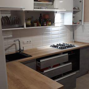 Akrilovaya kuhnya 06 019 s nizom iz plastika 1 foto 45 286x286 - Кухня №06-019 фото и цены