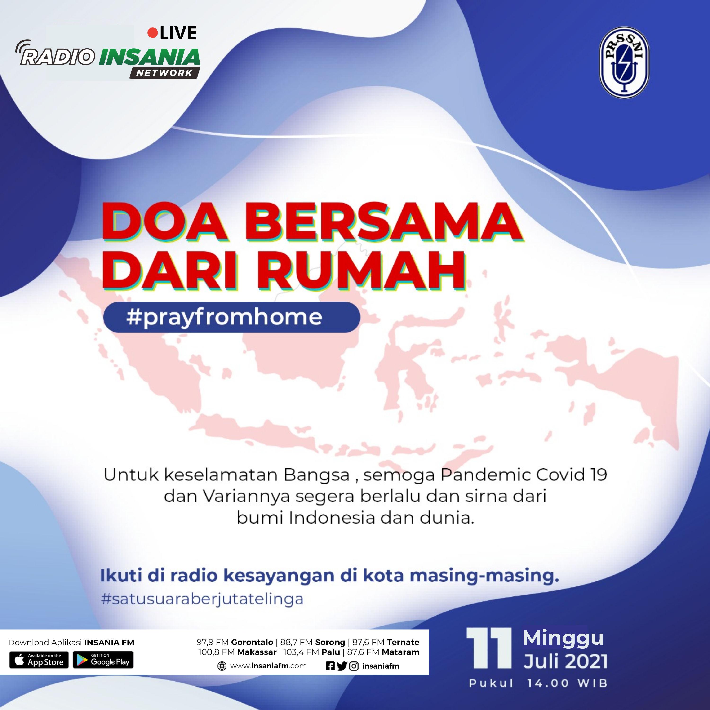 #PrayFromHome Doa Bersama dari Rumah dengan Presiden Jokowi