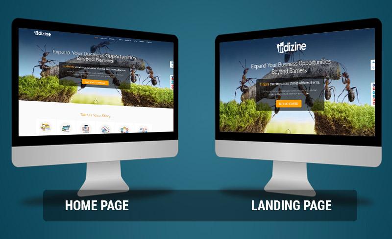 Home vs Landing,