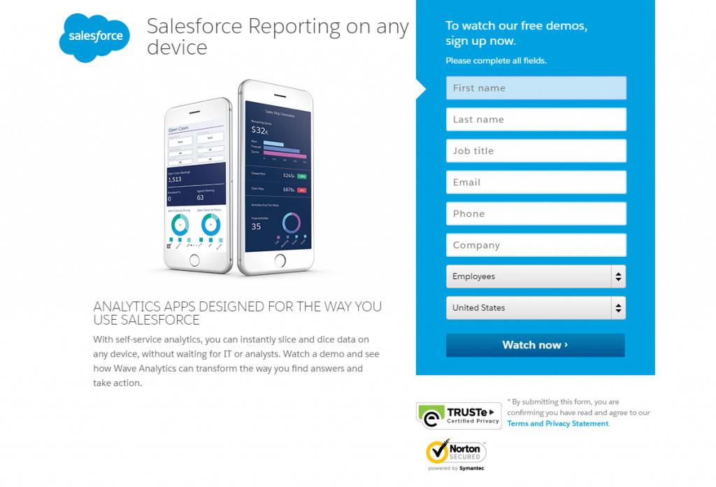 Salesforce Landing
