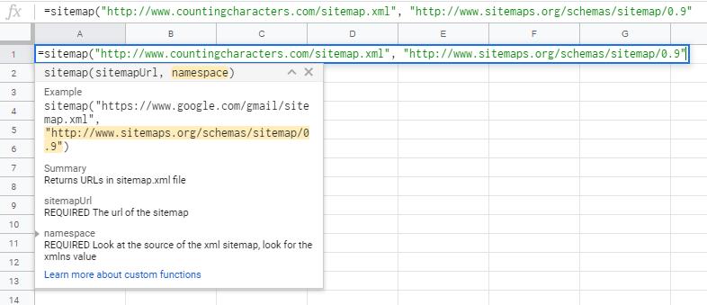 Sitemap URLs export