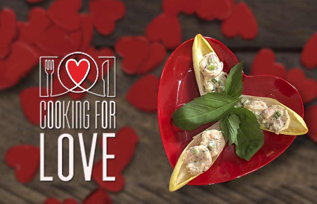 A promotional graphic for the chef/owner of Cooking For Love