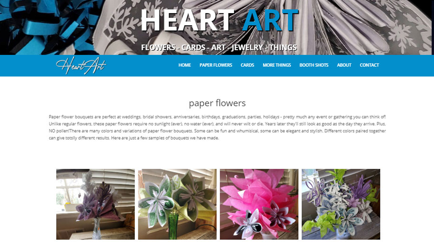 An full-blown, responsive website for my real-life art endeavors. Didn't know I can make cool things with my hands? I can... You can view the entire site (and cool handmade things) here: <a href='http://heartart.ga'>HeartArt.ga</a>