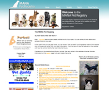 A pet registry for the medlock park neighborhood association, MANA. This site allowed people to register and create profiles for thier pet. In the event that someone were to loose their dog/cat/lizard, they could issue an alert from the website, and have an image of thier pet displayed on the front page of the pet registry, as well as the front page of the medlockpark.org website. The pets' image and pet details are also sent via email to all registered users of the site.