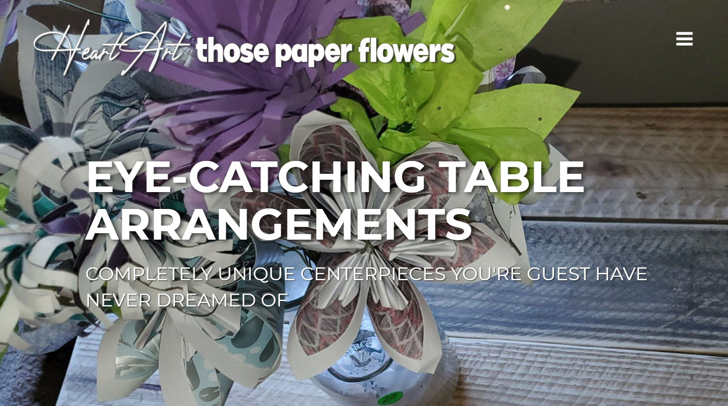 An full-blown, responsove website for my ficticious Paper Flower Company, Those Paper Flowers. You can view the entire site here: <a href='http://thosepaperflowers.ga'>ThosePaperFlowers.ga</a>