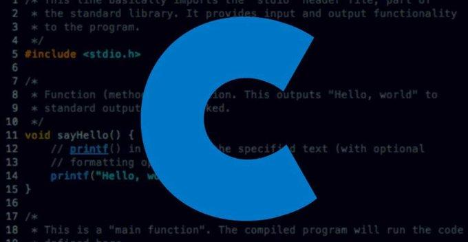 Origin of C language