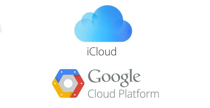 iCloud services වලට Google Cloud Platform???
