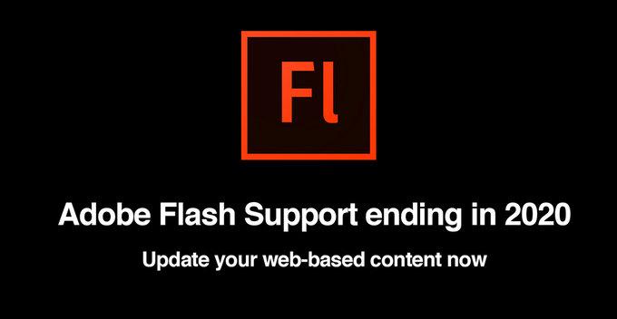 දෙසැම්බර් 31 වෙනිදා සිට Adobe Flash Player වැඩි දියුණු කිරීම සහ සහය නවතා දමයි