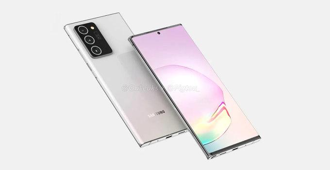 Samsung Galaxy Note 20, 60Hz Full HD Flat Display එකකින් එන ලකුණු
