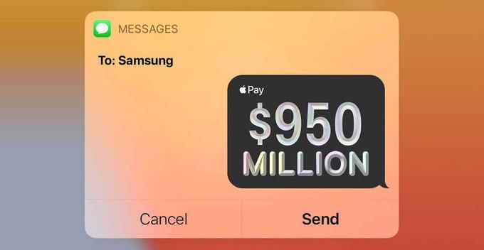 ගිවිසුම්ගත OLED ප්රමාණය මිලදී නොගැනීමෙන් Samsung වෙත USD මිලියන 950ක වන්දියක් Apple සමාගම ගෙවයි