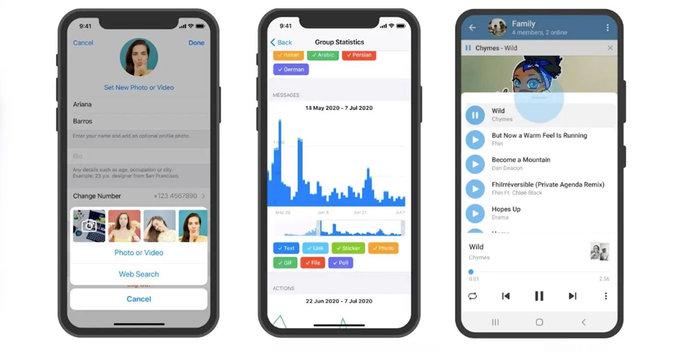 Profile Video, Group Stats, Improved People Nearby ඇතුලු තවත් features රැසකින් Telegram අලුත් වෙයි