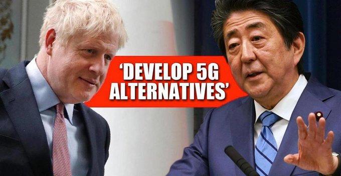 5G ජාලය සඳහා Huawei වෙනුවට ජපානය එකතු කරගැනීමට බ්රිතාන්ය රජය සූදානම් වෙයි