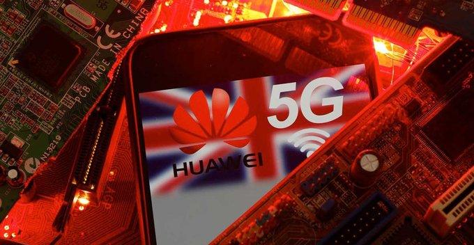 බ්රිතාන්යයේ 5G networks වලින් Huawei සමාගම ඉවතට