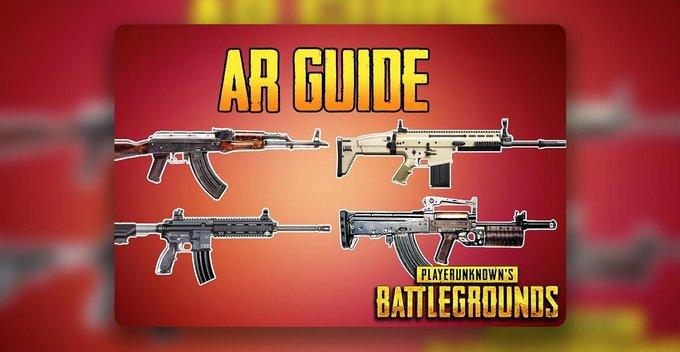 AR Guns ගැන සිංහලෙන්ම - PUBG GUN STATICS Part 1 (AR GUNS)