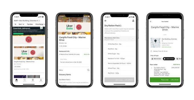 Uber සමාඟම නිල වශයෙන් ඔවුන්ගේ grocery delivery service එක ලොව පුරා ආරම්භ කරයි