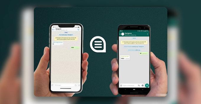 WhatsApp chat history එක Android සහ iOS අතර sync කරගැනීමේ පහසුකම අත්හදා බලයි