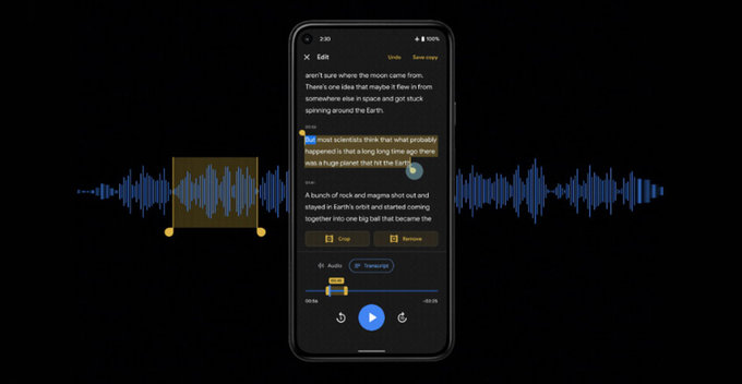 Google සමාගමේ Recorder App එක හරහා Pixel පරිශිලකයන් හට Audio Clips Edit කිරීමේ සහ Share කිරීමේ පහසුකම් ලැබෙයි