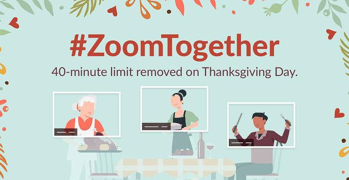 Free Video Calls සදහා යොදා ඇති මිනිත්තු 40ක සීමාව Thanksgiving day එක වෙනුවෙන් ඉවත් කරන බව Zoom සමාගම නිවේදනය කරයි