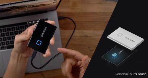 Fingerprint තියන Portable SSD එකක් Samsung T7 Touch