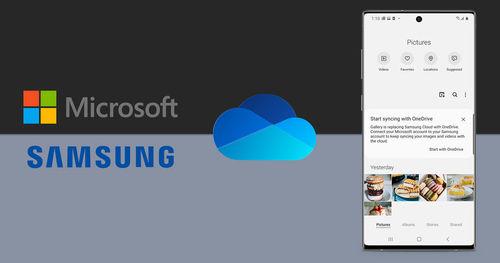 තම දුරකතන වල  drive storage සඳහා Samsung cloud වෙනුවට OneDrive භාවිතා කිරීමට Samsung සමාගම කටයුතු කරයි