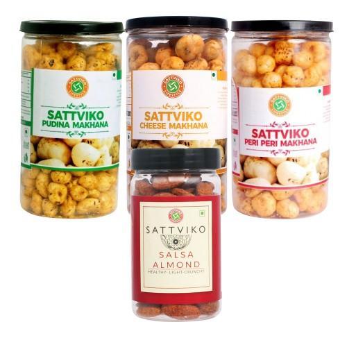 Sattviko Makhana Jars and Almond Combo