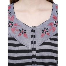 Secret Wish Women's Woolen Grey Nighty (Grey, Free Size)
