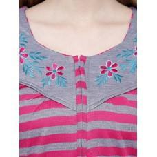 Secret Wish Women's Woolen Pink Nighty (Pink, Free Size)