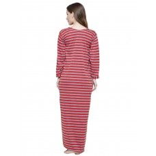 Secret Wish Women's Woolen Red Nighty (Red, Free Size)