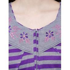 Secret Wish Women's Woolen Purple Nighty (Purple, Free Size)