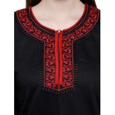 Secret Wish Women's Woolen Black Nighty (Black, Free Size)