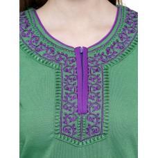 Secret Wish Women's Woolen Green Nighty (Green, Free Size)