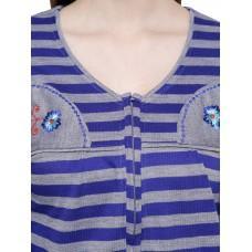 Secret Wish Women's Woolen Blue Nighty (Blue, Free Size)