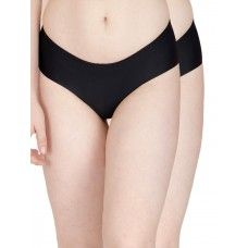 Secret Wish Seamless Black Panty - Pack of 2