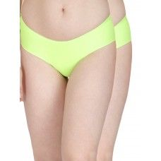 Secret Wish Seamless Fluorescent Green Panty - Pack of 2