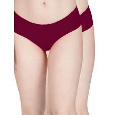 Secret Wish Seamless Maroon Panty - Pack of 2