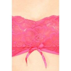 Mesh and Lace Pink Lingerie Set