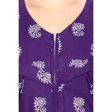 Cotton Purple Nursing Nighty, Nightdress