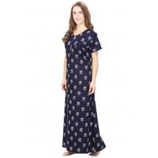 Cotton Blue Nursing Nighty, Nightdress