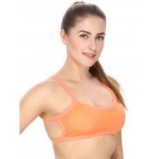 Solid Orange Sports Bra