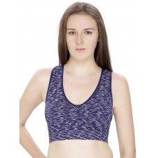 Secret Wish Navy Blue Padded Sports Bra