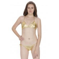 Secret Wish Golden Bra Panty Bikini Set