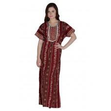 Secret Wish Women's Cotton Brown Nighty, Nightdress (Free Size, NT-74)