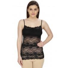 Secret Wish Women's Cotton Black Camisole