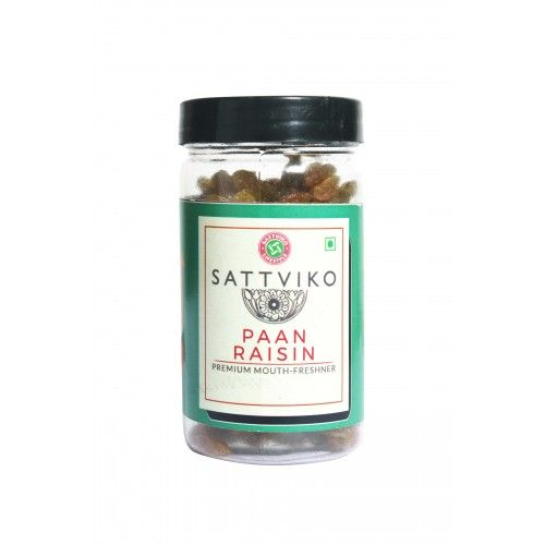 Sattviko Naturally Flavored Paan Raisins (110 Grams)