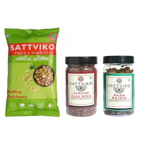Pudina Makhane, Paan Raisin & Flax Seed Combo
